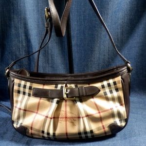 auth burberry shoulder bag cross body